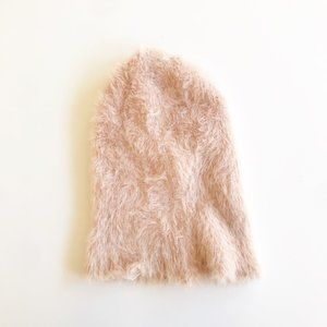 Urban Outfitters Pink Fuzzy Beanie Hat